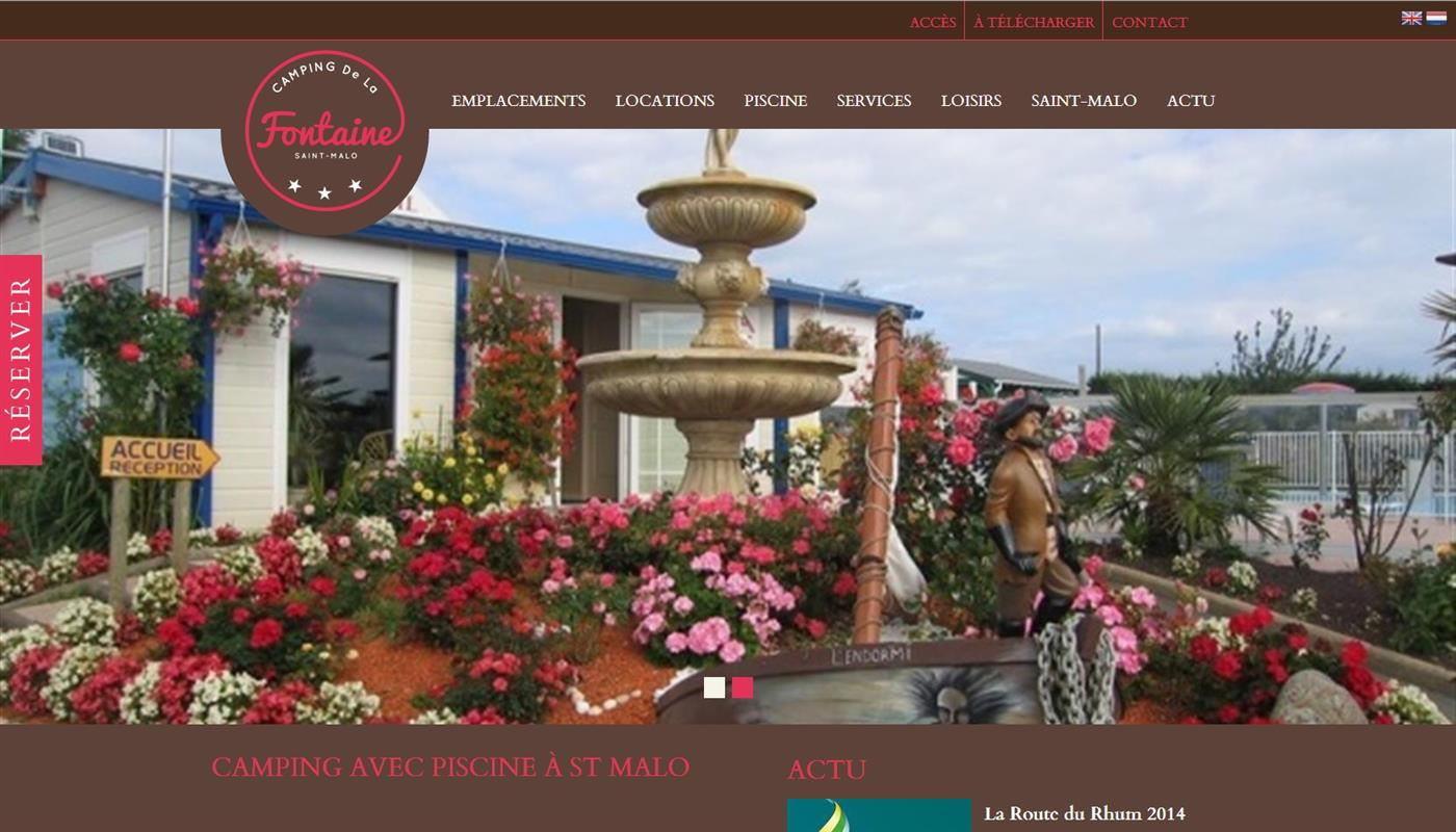 camping la fontaine saint malo creation de site. Black Bedroom Furniture Sets. Home Design Ideas