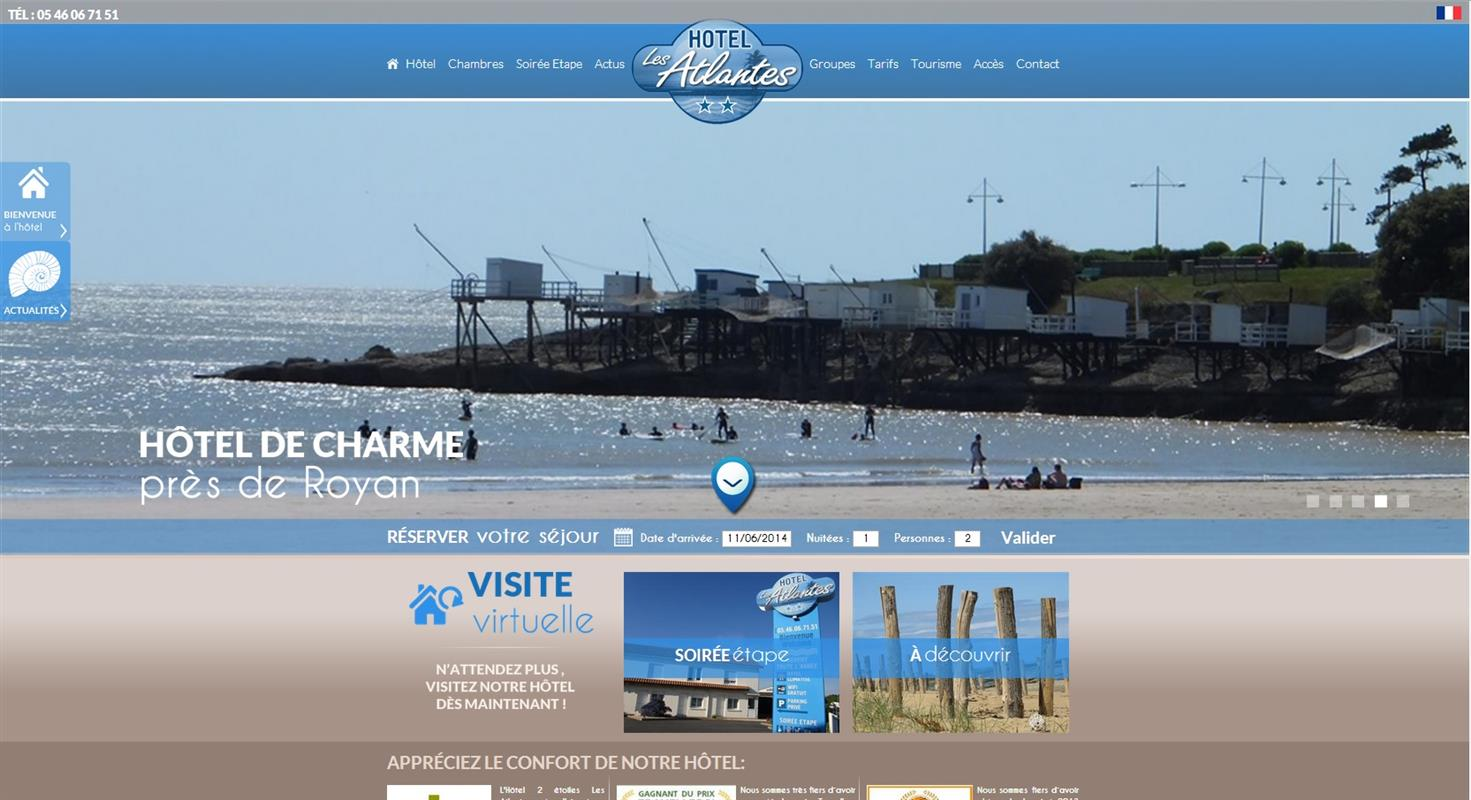 Hotel les atlantes royan creation de site internet pour for Les sites des hotels