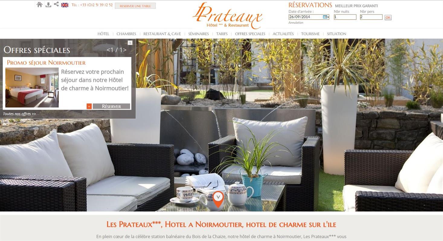 Hotel les prateaux creation de site internet pour l for Site pour les hotels