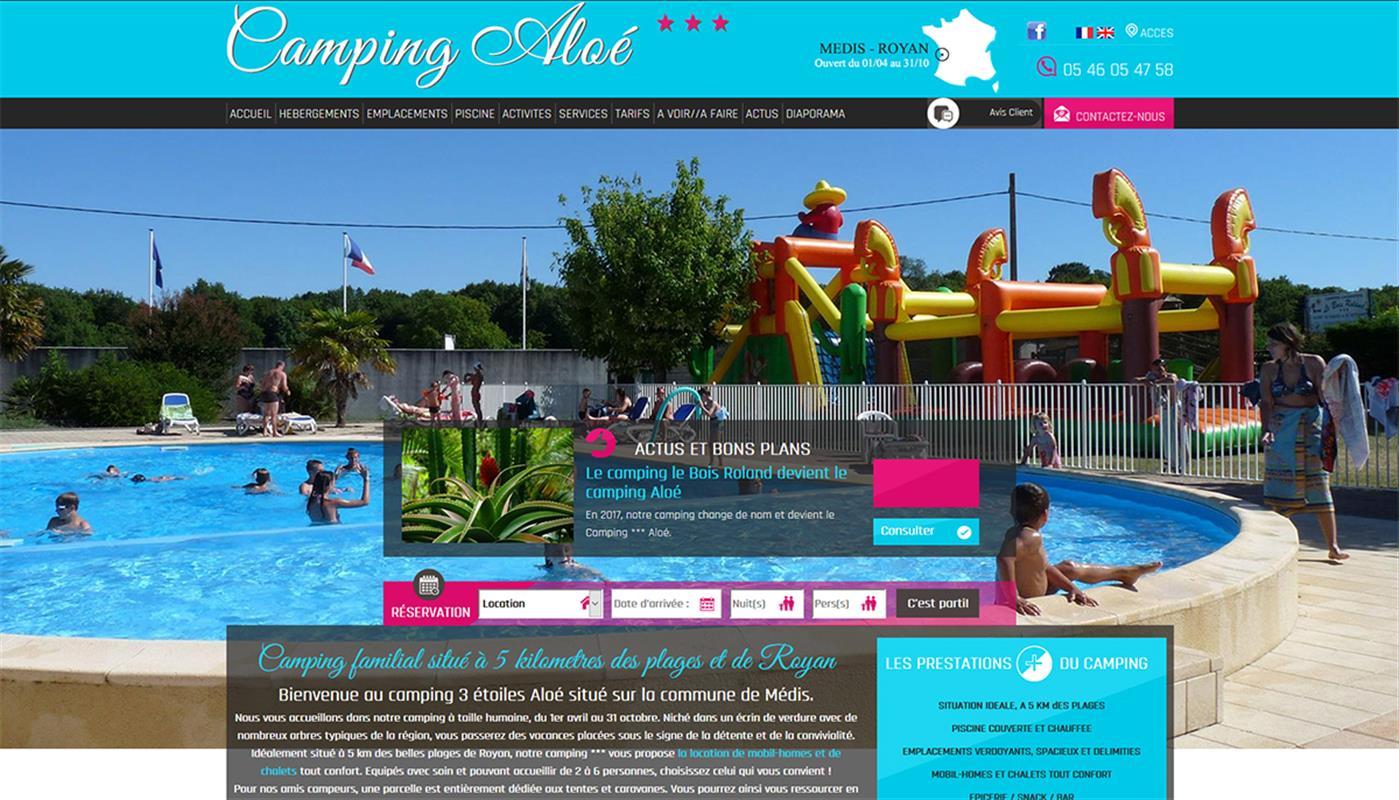 Camping alo creation de site internet pour l 39 hotellerie for Salon hotellerie de plein air